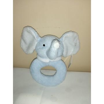 Sonajero elefantito celeste