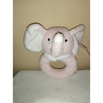 Sonajero elefantito rosado