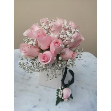 Bouquet + Boutonnier de Rosas
